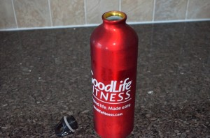 Goodlife Fitness Water Bottle Cover Removed