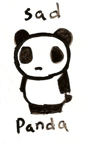 Just a very sad panda