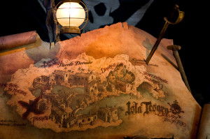 Map in Pirates of the Caribbean