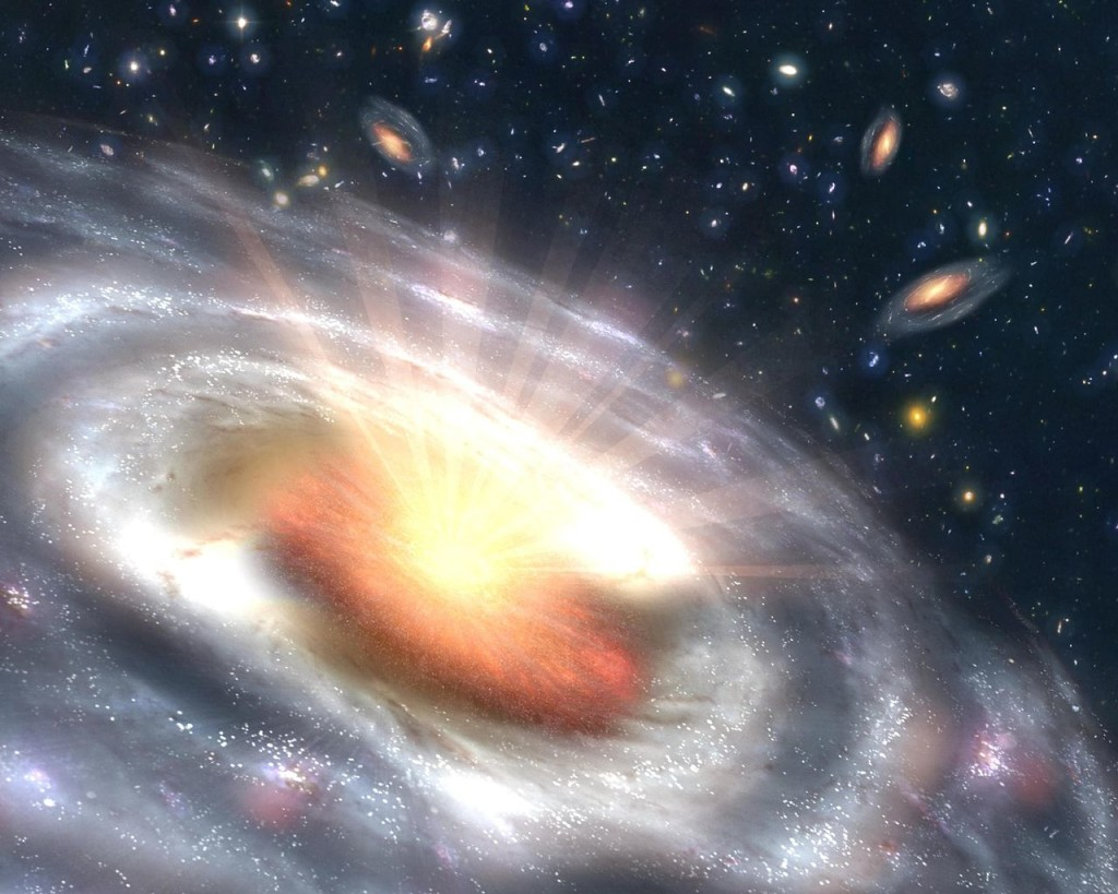 Quasar black hole obliterating some stuff