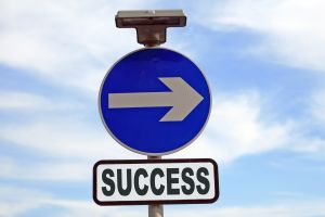 Success - This way please.
