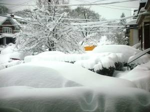 A big pile of snow