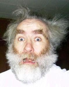 crazy old man because winter sucks